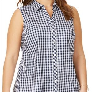 H&M gingham button down
